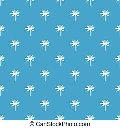 Palm tree pattern seamless blue