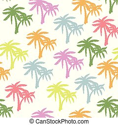 Coconut tree print for textile design - Palm tree pattern...