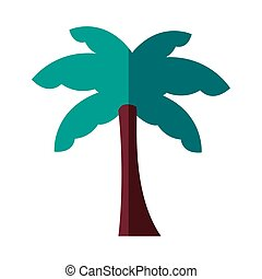 palm tree plant forest flat style icon