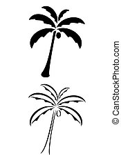 Palm Tree - A black tribal palm tree tattoo