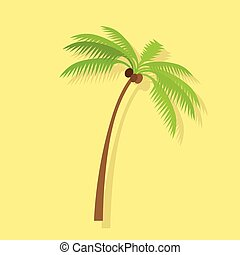 Palm Tree with Coconut
