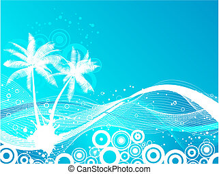 Palm trees background - Abstract palm trees background