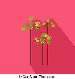 Palm trees icon, flat style