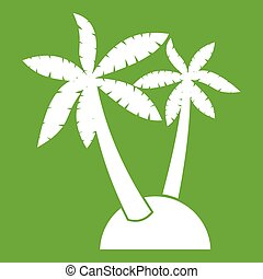 Palm trees icon green