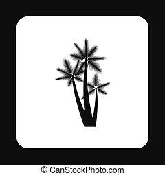 Palm trees icon, simple style