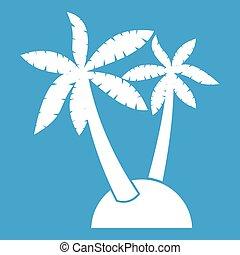 Palm trees icon white