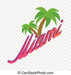 Palm trees Miami isometric icon