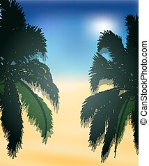 palm trees on the beach background