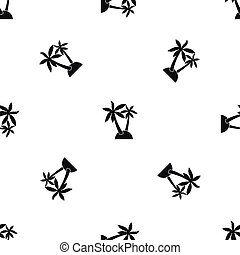 Palm trees pattern seamless black