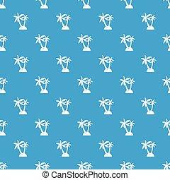 Palm trees pattern seamless blue