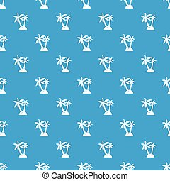 Palm trees pattern seamless blue