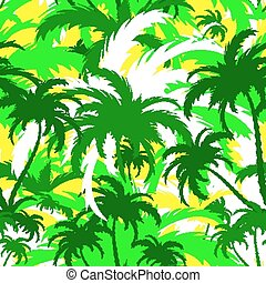 palm trees, seamless background - palm trees, tropical ...