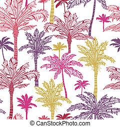Palm trees seamless pattern background