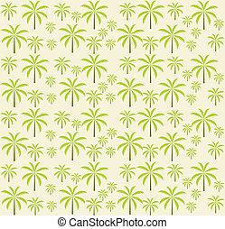 Palm trees seamless pattern. Vector illustration. EPS 10.