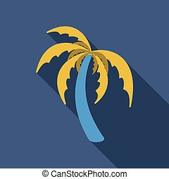 Palm trees with shadow isolated on background. Vector illustration