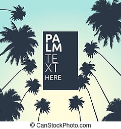 Palm vector background