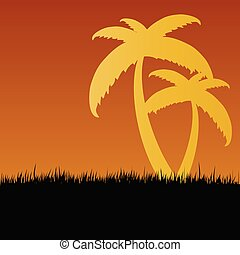 palm vector in nature