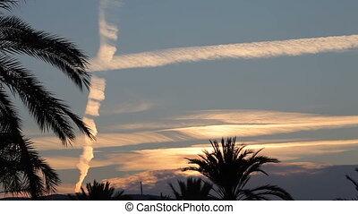 Palma de Mallorca, Evening sky - Palma de Mallorca, Spain,...