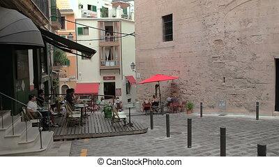 Palma de Mallorca, Outdoor cafes - Palma de Mallorca, Spain,...