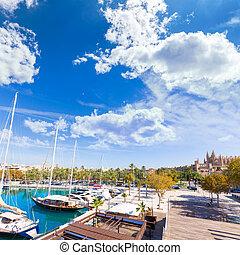 Palma de Mallorca port marina in Majorca Balearic