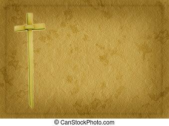 palma, domingo, cristiano, plano de fondo