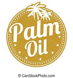 palma, francobollo, olio