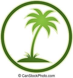 palma, icon., árvore