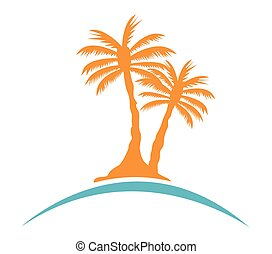 palma, immagine, albero