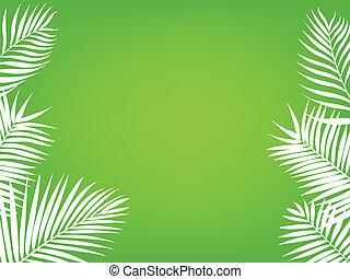 palma, quadro, árvore, fundo