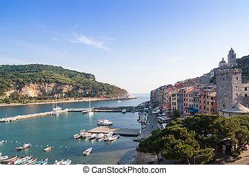 Palmaria and Portovenere typical Ligurian Village Near...