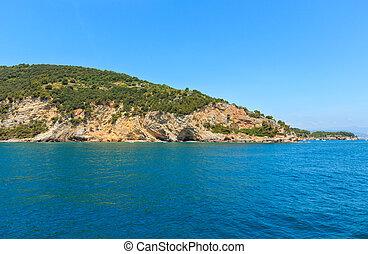 Palmaria island, La Spezia, Italy - Beautiful rocky sea...