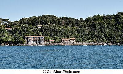 palmaria island in front of portovenere in the gulf of la...