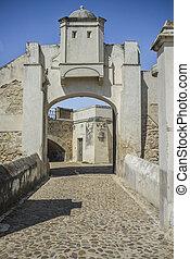 palmas, 橋, 要塞, ドア, hornwork