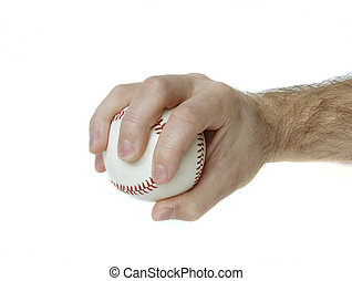Palmball Grip - Illustrates how to hold a baseball to throw...