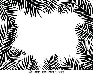 palmblatt, silhouette