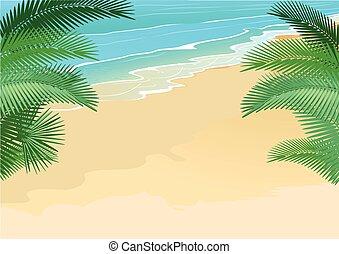 palmen, strandmit