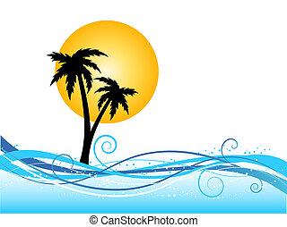 palmier, fond