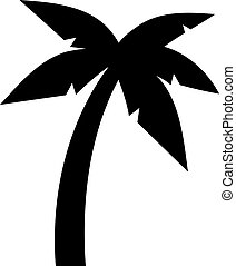 Plage paume symbole arbre pictogramme 10 pictogramme symbole arbre eps illustration - Palmier clipart ...