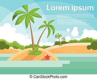palmier, vacances tropicales, été, océan, île, vacances