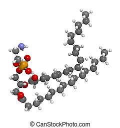 Palmitoyloleoylphosphatidylethanolamine (POPE) cell membrane...