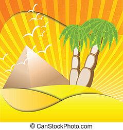 palms and pyramids
