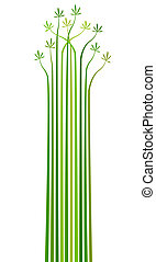 Palms - Abstract editable vector design element of stripes...