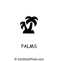 Palms flat vector icon