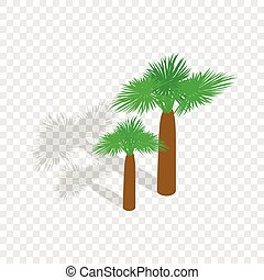 Palms isometric icon