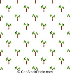 Palms pattern, cartoon style