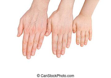 palms., processus, vieillissant, jeunesse, adulte aîné