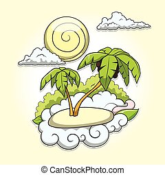 Palms tropical vector illustration