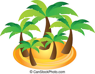 palms vector - palms cartoons over white background. vector...