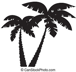Palms - vector palms silhouettes