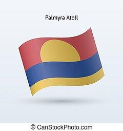 Palmyra Atoll flag waving form. - Palmyra Atoll flag waving...
